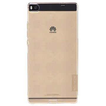 Huawei P8 Nillkin Nature TPU Suojakuori Kultainen