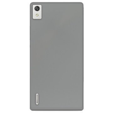 Huawei P8 Puro 0.3 Ultra Slim Silikonikotelo Harmaa