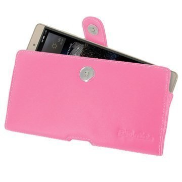 Huawei P8max PDair Vaakakotelo Nahka Vaaleanpunainen