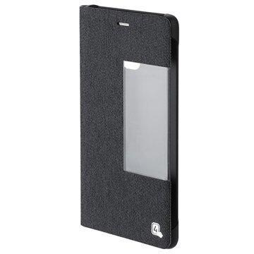 Huawei P9 4smarts Chelsea Smart Suojakotelo Fabric Musta