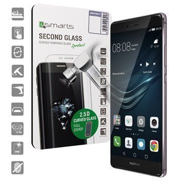 Huawei P9 4smarts Curved Glass Näytönsuoja Musta