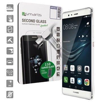 Huawei P9 4smarts Curved Glass Näytönsuoja Valkoinen