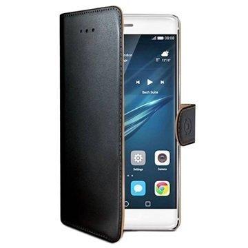 Huawei P9 Celly Wally Lompakkokotelo Musta