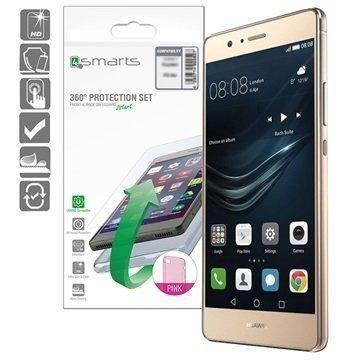 Huawei P9 Lite 4smarts 360 Suojaussetti Pinkki