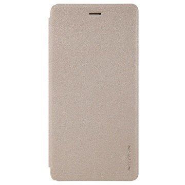 Huawei P9 Lite Nillkin Sparkle Läppäkotelo Kulta