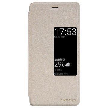 Huawei P9 Nillkin Sparkle Series View Läppäkotelo Kulta