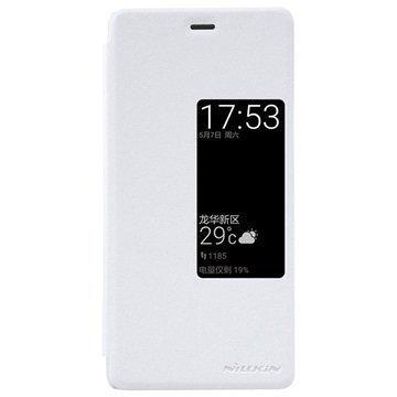 Huawei P9 Nillkin Sparkle Series View Läppäkotelo Valkoinen