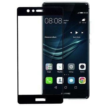 Huawei P9 Peter Jäckel Koko Näytön HD Lasi Näytönsuoja Musta