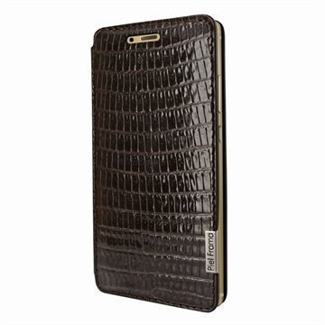 Huawei P9 Piel Frama FramaSlim Leather Case Lizard Brown