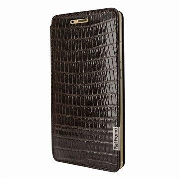 Huawei P9 Piel Frama FramaSlim Leather Case Lizard Brown