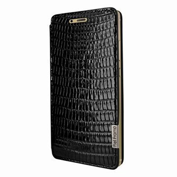 Huawei P9 Piel Frama FramaSlim Leather Case Lizard Musta