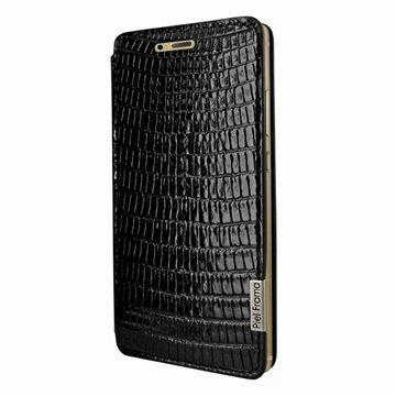 Huawei P9 Piel Frama FramaSlim Leather Case Lizard Musta