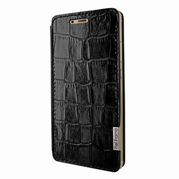 Huawei P9 Piel Frama FramaSlim Nahkakotelo Krokotiili Musta