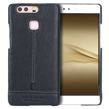 Huawei P9 Pierre Cardin Nahkapinnoitettu Kotelo Musta