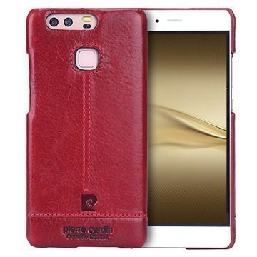 Huawei P9 Pierre Cardin Nahkapinnoitettu Kotelo Punainen