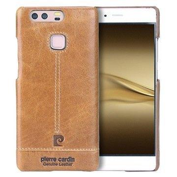 Huawei P9 Pierre Cardin Nahkapinnoitettu Kotelo Ruskea