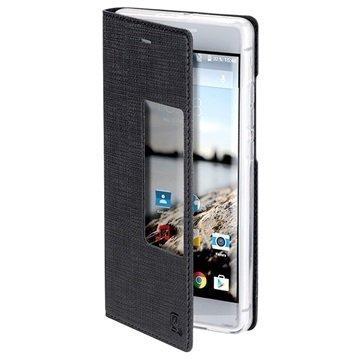 Huawei P9 Plus 4smarts Basic Chelsea Ikkuna Kansi Musta