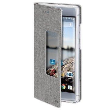 Huawei P9 Plus 4smarts Basic Chelsea Ikkunallinen Suojakotelo Harmaa