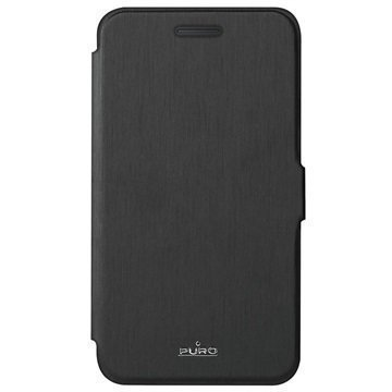 Huawei Y360 Puro Wallet Kotelo Musta