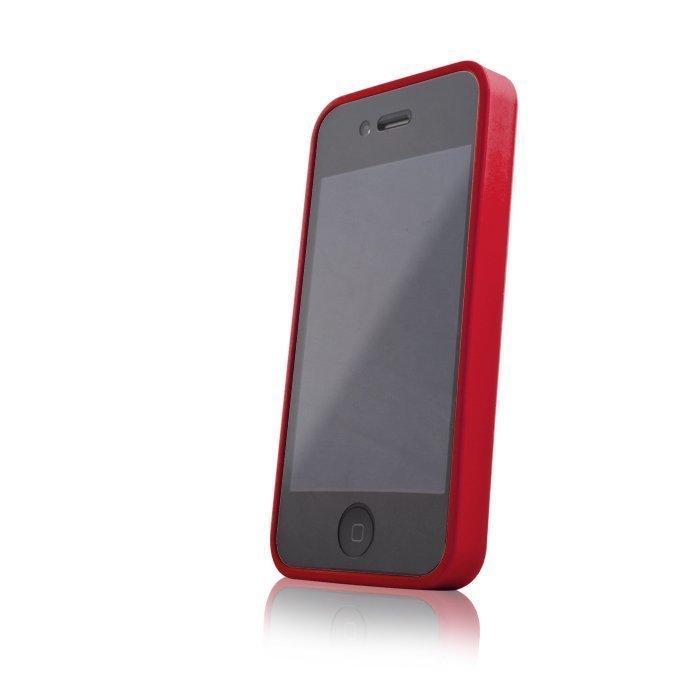 Hybrid Case for iPhone 4 ja 4S suojakotelo punainen