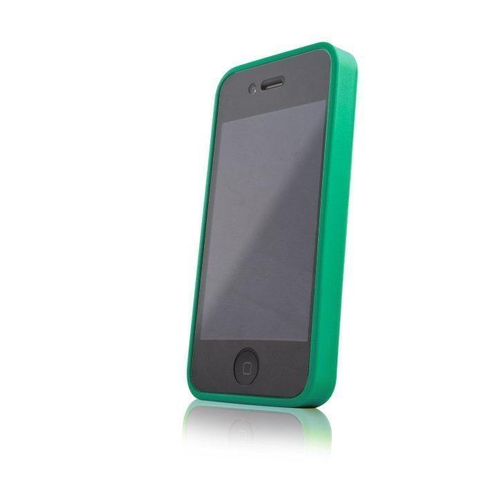 Hybrid Case for iPhone 4 ja 4S suojakotelo vihreä
