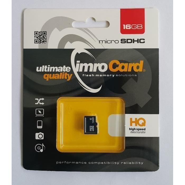 IMRO microSDHC Muistikortti 16 Gt Class 6 Samsung muistipiirillä