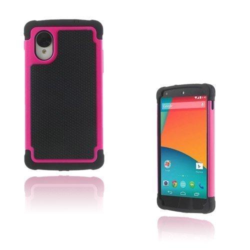 Impact Kuuma Pinkki Google Nexus 5 Turvakuori