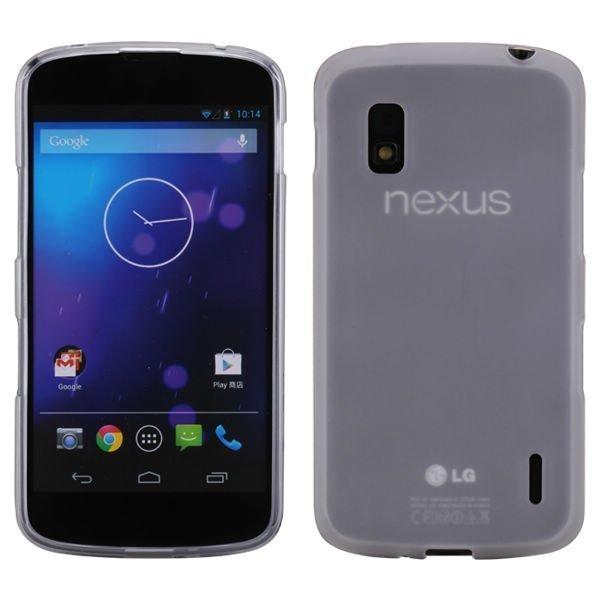 Impact Läpikuultava Valkoinen Google Nexus 4 Silikonikuori