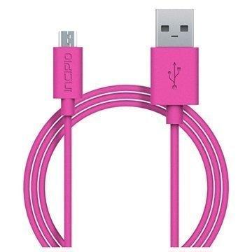 Incipio USB 2.0 / Micro USB Lataus & Synkronointikaapeli Pinkki