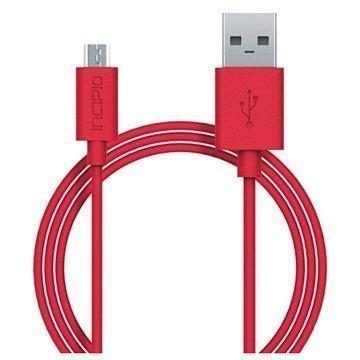 Incipio USB 2.0 / Micro USB Lataus & Synkronointikaapeli Punainen