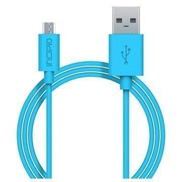 Incipio USB 2.0 / Micro USB Lataus & Synkronointikaapeli Syaani