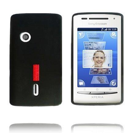 Incover Musta Sony Ericsson Xperia X8 Silikonikuori