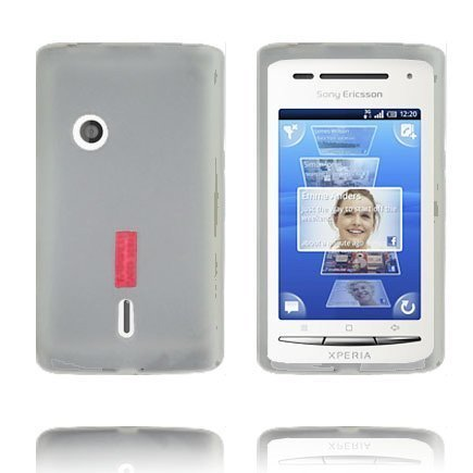 Incover Valkoinen Sony Ericsson Xperia X8 Silikonikuori