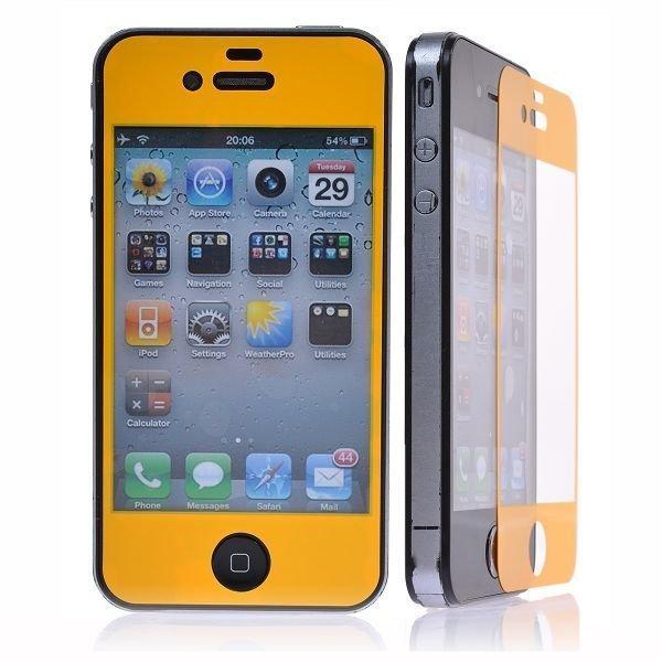 Iphone 4 / 4s Näytön Suojakalvo Massive Colors Keltainen