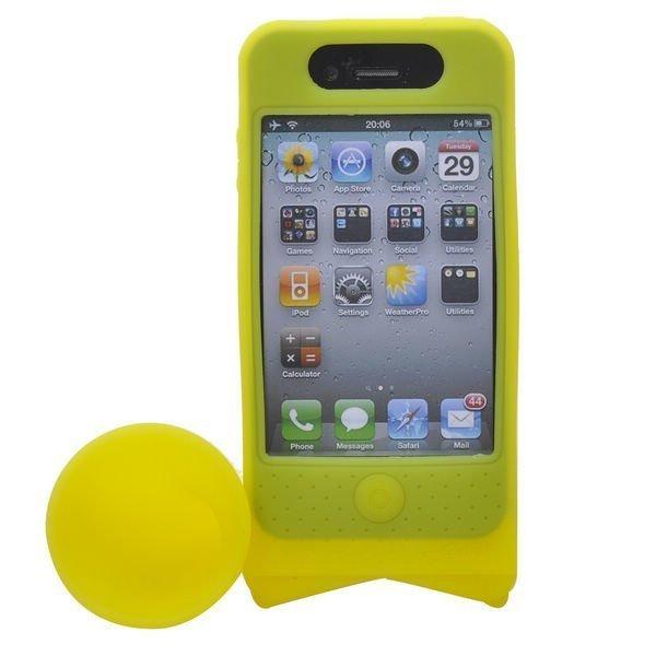 Iphone 4 Torvi Suojakotelo Pyöräteline Keltainen