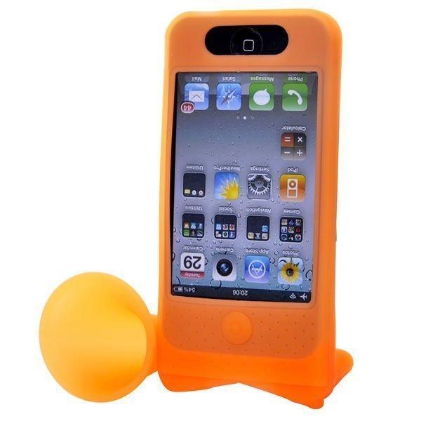 Iphone 4 Torvi Suojakotelo Pyöräteline Oranssi