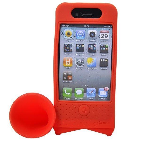 Iphone 4 Torvi Suojakotelo Pyöräteline Punainen