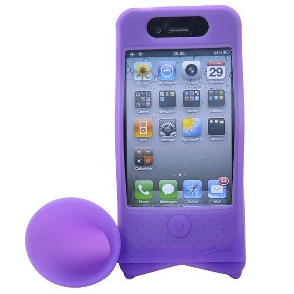 Iphone 4 Torvi Suojakotelo Pyöräteline Violetti
