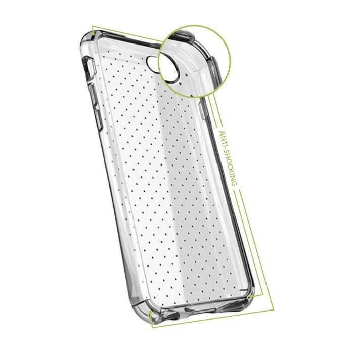 Iskunkestävä GreenGo suojakotelo iPhone 4 / 4S Läpinäkyvä