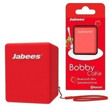 Jabees Bobby Cake Bluetooth Kaiutin Punainen
