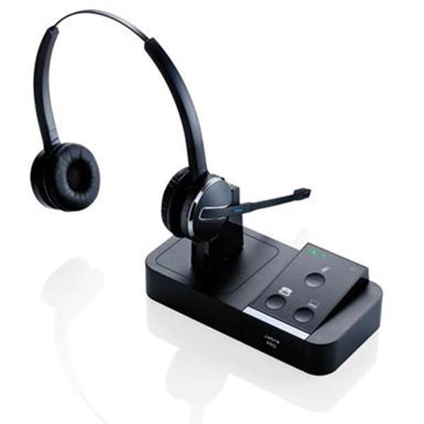 Jabra PRO 9450 Duo langaton headset DECT 1.8/US DECT 6.0 UC musta