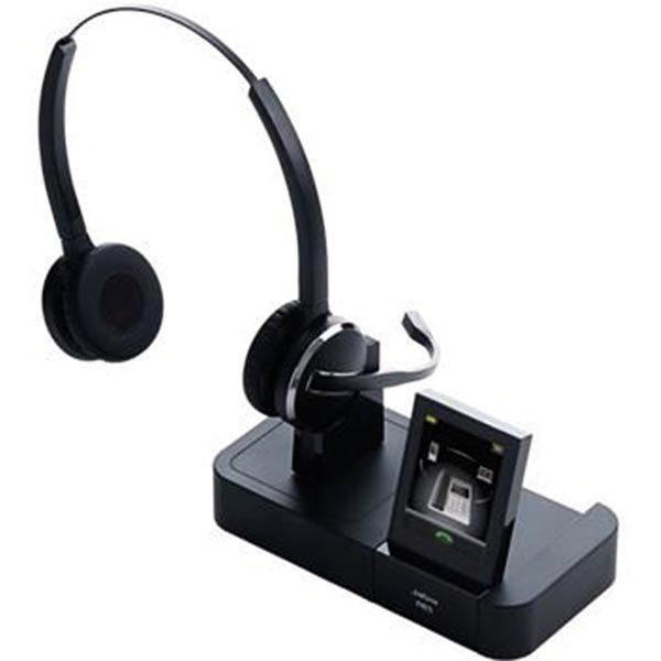 Jabra PRO 9465 Duo DECT bluetooth behind the neck musta