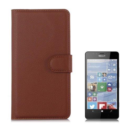 Jensen Microsoft Lumia 950 Nahkakotelo Standillä Ruskea
