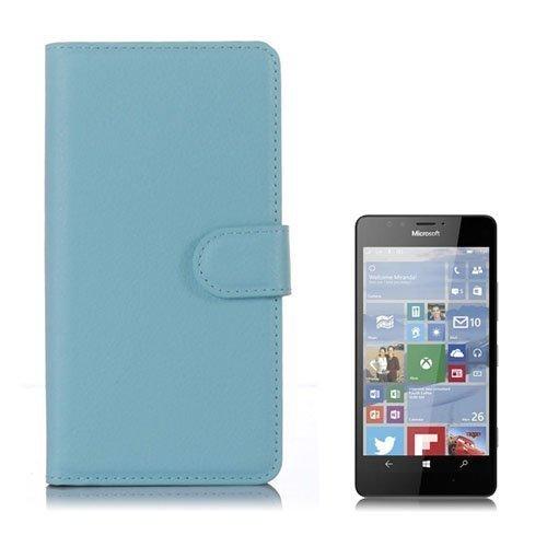 Jensen Microsoft Lumia 950 Nahkakotelo Standillä Sininen
