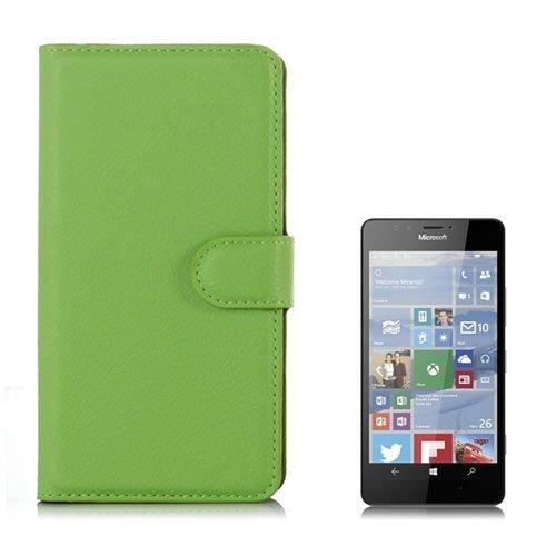 Jensen Microsoft Lumia 950 Nahkakotelo Standillä Vihreä