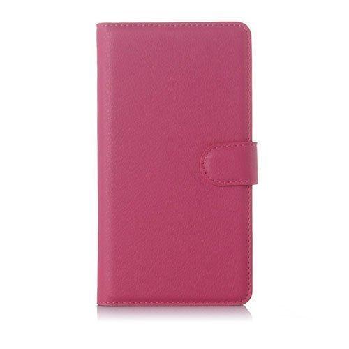 Jensen Microsoft Lumia 950 Xl Nahkakotelo Standillä Kuuma Pinkki