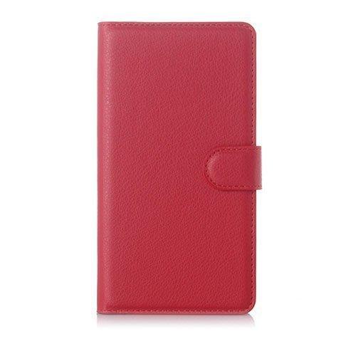 Jensen Microsoft Lumia 950 Xl Nahkakotelo Standillä Punainen