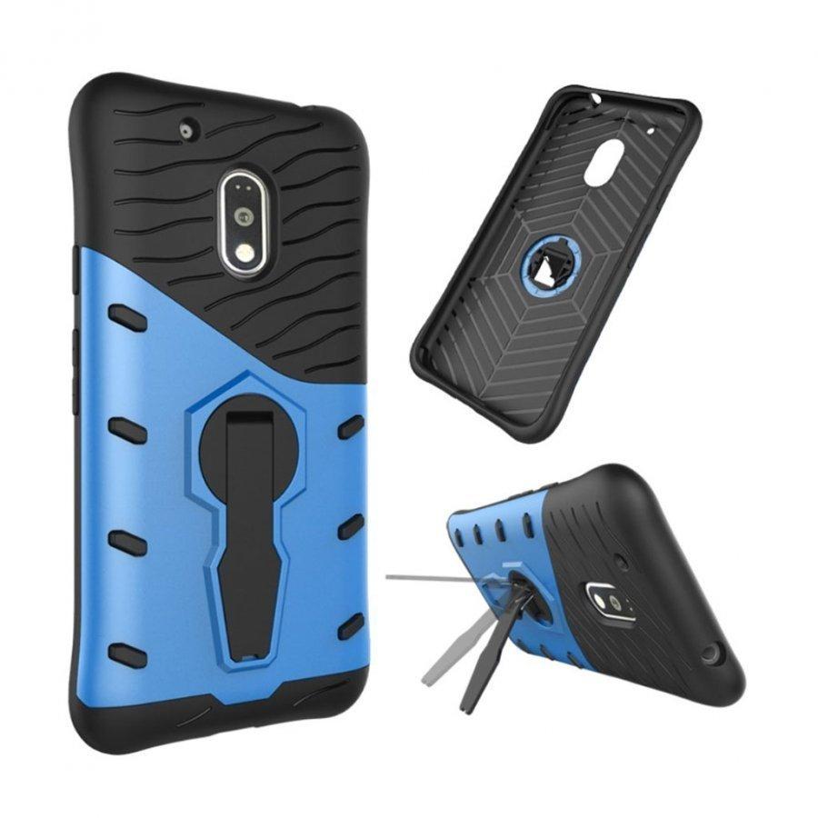 Jernside Motorola G4 Play Joustava Hybridi Muovikuori Sininen