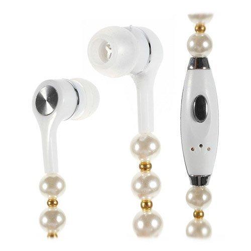 Jewelry Kulta / Valkoinen Nappikuulokkeet Mikrofonilla
