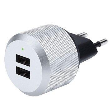 Just Mobile AluPlug Kaksois-USB Seinälaturi